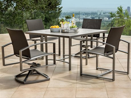 OW Lee Pacifica Wrought Iron Dining Set