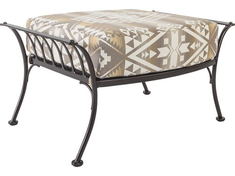 OW Lee Pendleton Copper Canyon Wrought Iron Monterra Ottoman in Canyon Lands Desert