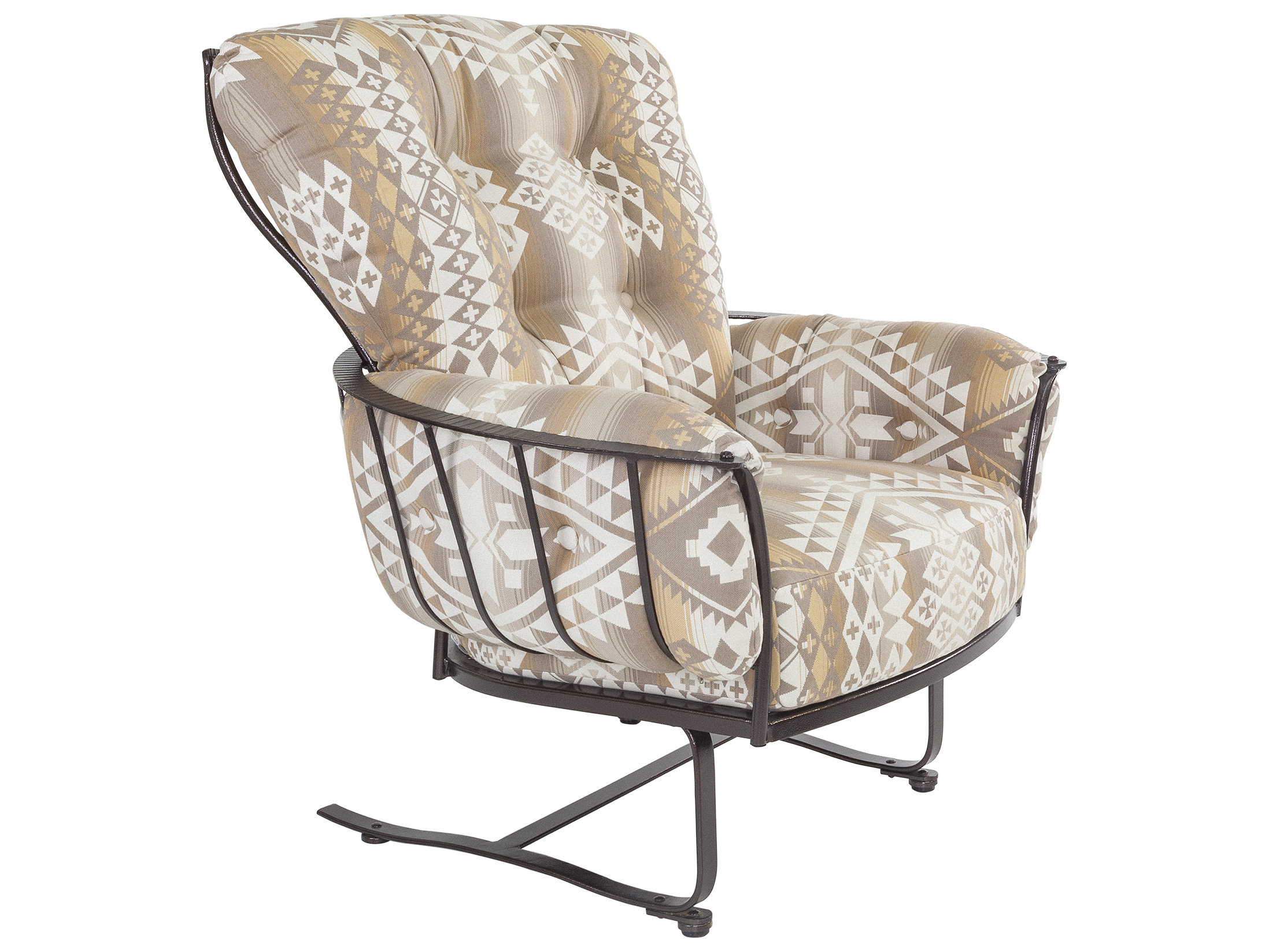 Sensational Ow Lee Pendleton Copper Canyon Wrought Iron Monterra Spring Lounge Chair In Canyon Lands Desert Andrewgaddart Wooden Chair Designs For Living Room Andrewgaddartcom