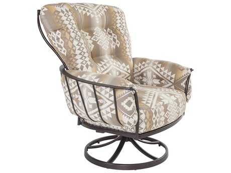 OW Lee Pendleton Copper Canyon Wrought Iron Monterra Swivel Rocker Lounge Chair in Canyon Lands Desert