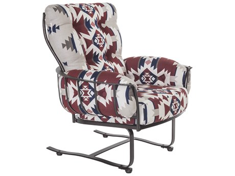 OW Lee Pendleton Copper Canyon Wrought Iron Mini Spring Lounge Chair in Mountains Majesty Americana