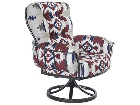 OW Lee Pendleton Copper Canyon Wrought Iron Mini Monterra Swivel Rocker Lounge Chair in Mountains Majesty Americana