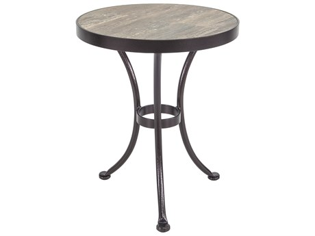 OW Lee Accent Pendalton Wrought Iron 18''Wide Round Side Table
