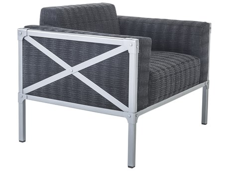 OW Lee Pendleton Coastal Grey Steel Creighton Lounge Chair in Saw Tooth Midnight