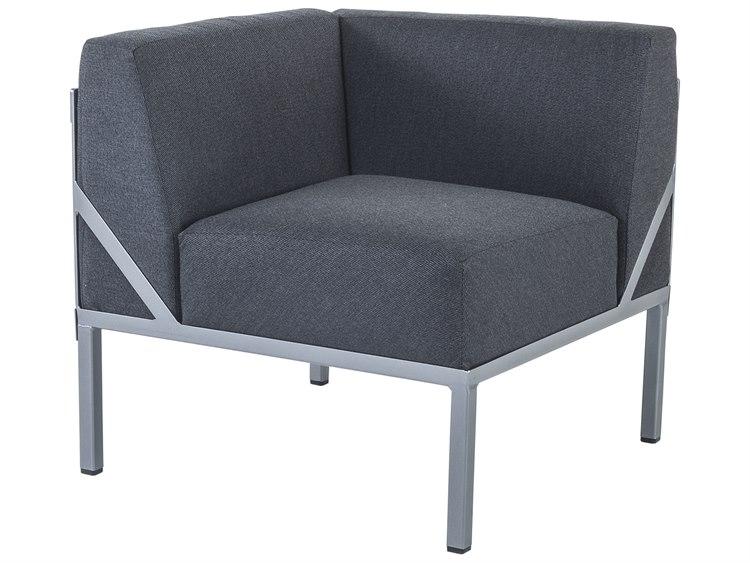 Ow Lee Pendleton Coastal Grey Steel Creighton Corner Lounge Chair In Mill Cloth Midnight Pd55145 Cr