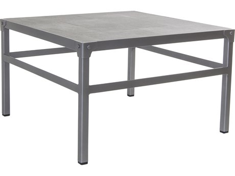 OW Lee Pendleton Coastal Grey Steel Creighton 30'' Wide Square Coffee Table OWPD55MT30SQ