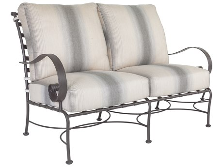 OW Lee Classico W Pedalton Wrought Iron Loveseat