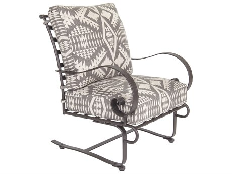 OW Lee Classico W Pedalton Wrought Iron Spring Lounge Chair