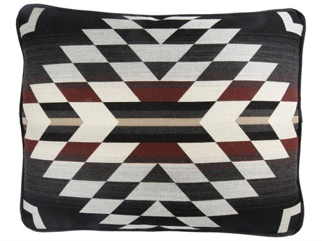 OW Lee Pendleton Design Harmony Boxed Accent Pillow With Decorative Trim in Zapotec Adobe OWPDBP1519WCL
