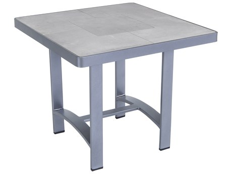 OW Lee Pendleton Coastal Grey Wrought Iron Pacifica 24'' Wide Square Side Table