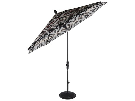 OW Lee Market Pendalton Aluminum 9' Collar Tilt Umbrella