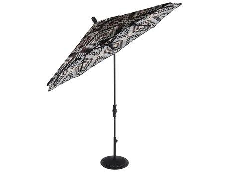 OW Lee Market Pendalton Aluminum 9' Collar Tilt Umbrella