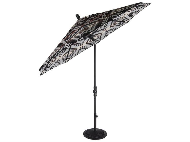 OW Lee Market Pendalton Aluminum 9' Collar Tilt Umbrella PatioLiving