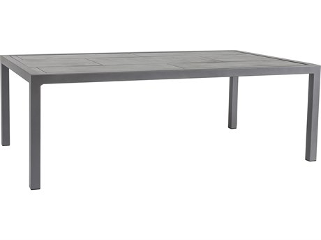 OW Lee Quadra Wrought Iron 53''W x 31''D Rectangular Dining Table