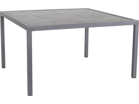 OW Lee Quadra Wrought Iron 39''Wide Square Dining Table