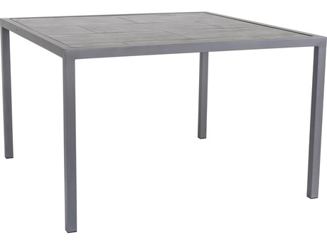 OW Lee Quadra Wrought Iron 44.5'' Wide Square Dining Table