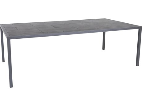 OW Lee Quadra Wrought Iron 87'' x 45''x Rectangular Dining Table