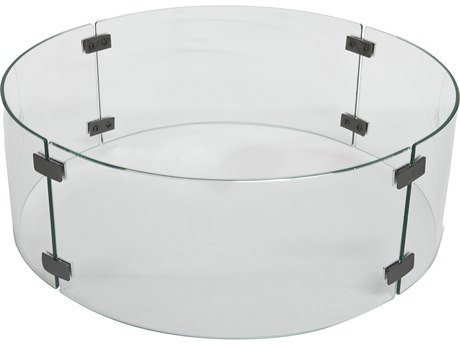 OW Lee Quick Ship 23'' Wide Round Glass Guard PatioLiving