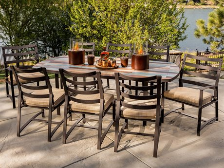 OW Lee Ridgewood Wrought Iron Dining Set