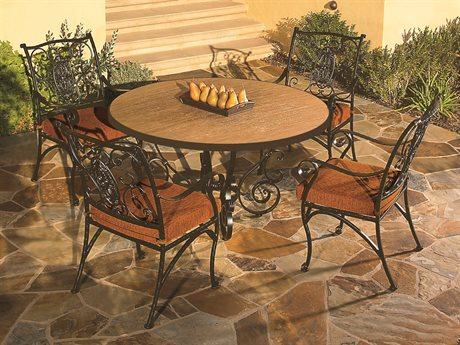 OW Lee San Cristobal Wrought Iron Dining Set