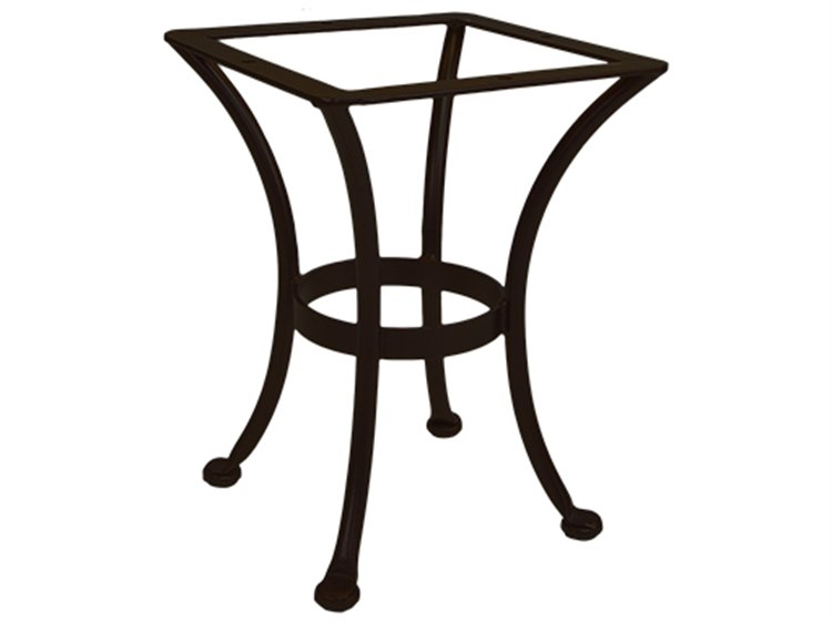 Ow lee wrought iron round end table base st01 base for Wrought iron side table base