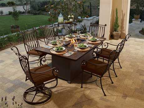 OW Lee St. Charles Wrought Iron Dining Set