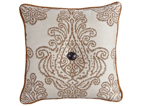 OW Lee Design Harmony Accent Pillow with Decorative Trim & Cast Button