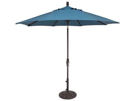 OW Lee Market Aluminum 9' Collar Tilt Umbrella PatioLiving