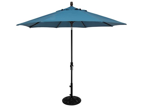 OW Lee Market Aluminum 9' Collar Tilt Umbrella