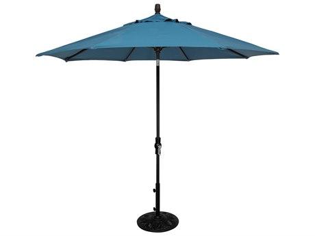 OW Lee Market Aluminum 9' Collar Tilt Umbrella PatioLiving