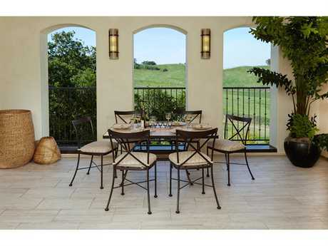 OW Lee Villa Wrought Iron Dining Set