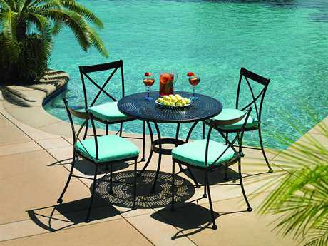 OW Lee Villa Wrought Iron Bistro Set