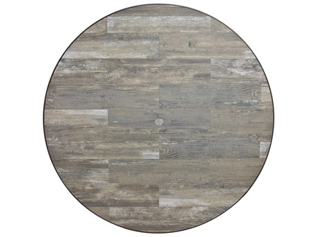 OW Lee Porcelain Reclaimed 54 x 1.5 Round Table Top with Umbrella Hole