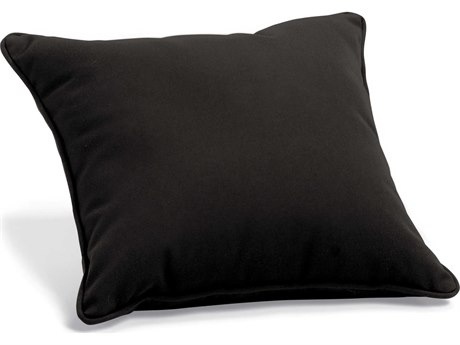 Oxford Garden Sunbrella Black Replacement Throw Pillow