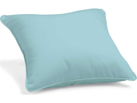 Oxford Garden Sunbrella Mineral Blue Replacement Throw Pillow