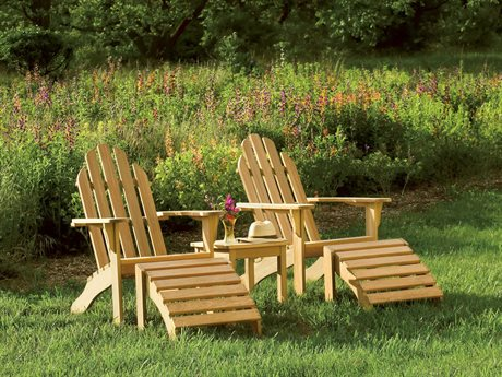 Oxford Garden Adirondack Wood Lounge Set