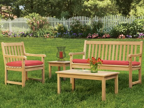 Oxford Garden Classic Wood Cushion Lounge Set