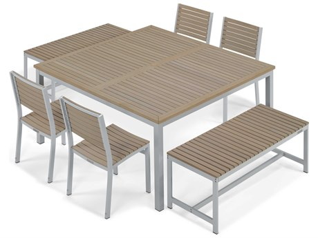 Oxford Garden Travira Aluminum Dining Set