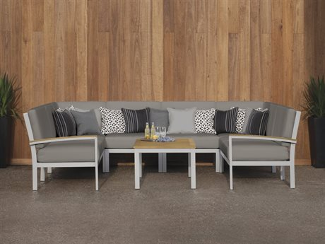 Oxford Garden Travira Aluminum Cushion Lounge Set