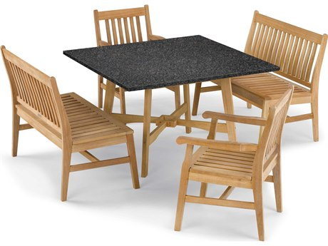 Oxford Garden Wexford Aluminum Wood Dining Set OXF5395