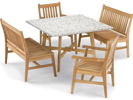 Oxford Garden Wexford Aluminum Wood Dining Set OXF5396