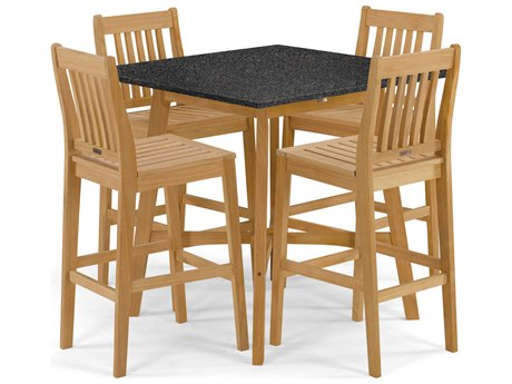 Oxford Garden Wexford Aluminum Wood Dining Set OXF5401