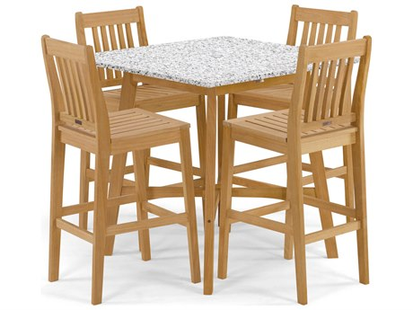 Oxford Garden Wexford Aluminum Wood Dining Set OXF5402