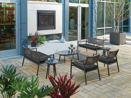 Oxford Garden Eiland Aluminum Cushion Lounge Set