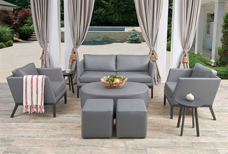 Oxford Garden Salino & Eiland Aluminum Cushion Lounge Set