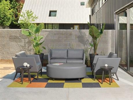 Oxford Garden Salino & Eiland Aluminum Cushion Lounge Set