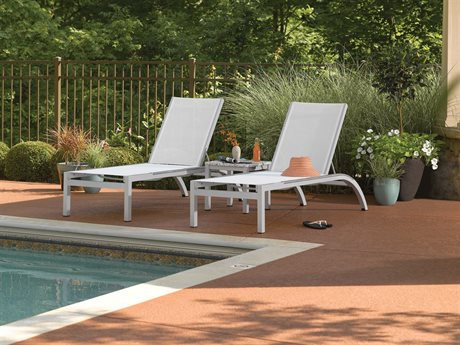 Oxford Garden Argento & Travira Aluminum Sling Lounge Set