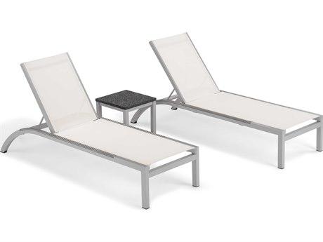 Oxford Garden Argento & Travira Aluminum Sling Lounge Set PatioLiving