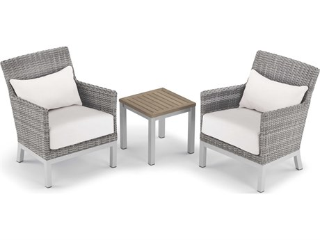 Oxford Garden Argento & Travira Aluminum Cushion Lounge Set