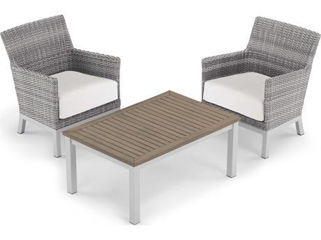 Oxford Garden Argento & Travira Aluminum Cushion Lounge Set